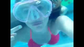 Waterslide/diy Watermelon Popcicles! Underwater!