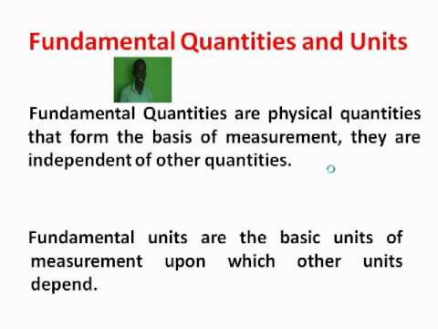 Physical Quantities And Units
