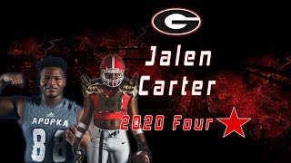 Jalen Carter | 4 Star DT Class Of 2020 | UGA Commit