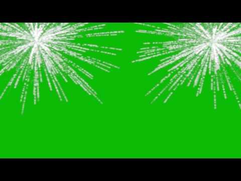 Fireworks Shine green screen effect Full-HD / Футаж Салют & Фейерверк Блеск