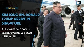 Watch: Kim, Trump arrive for summit that's costing Singapore Sg$20 million