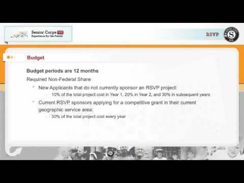Senior Corps Application for RSVP