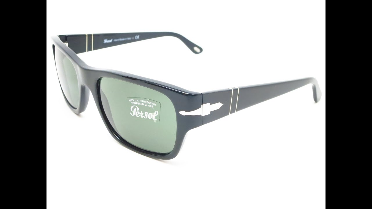 46810590cd6c9 Unboxing Persol PO 3021S Shiny Black 95 31 56MM - YouTube