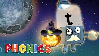 Phonics - Learn to Read | Letters in the Dark | Alphablocks | #Halloween