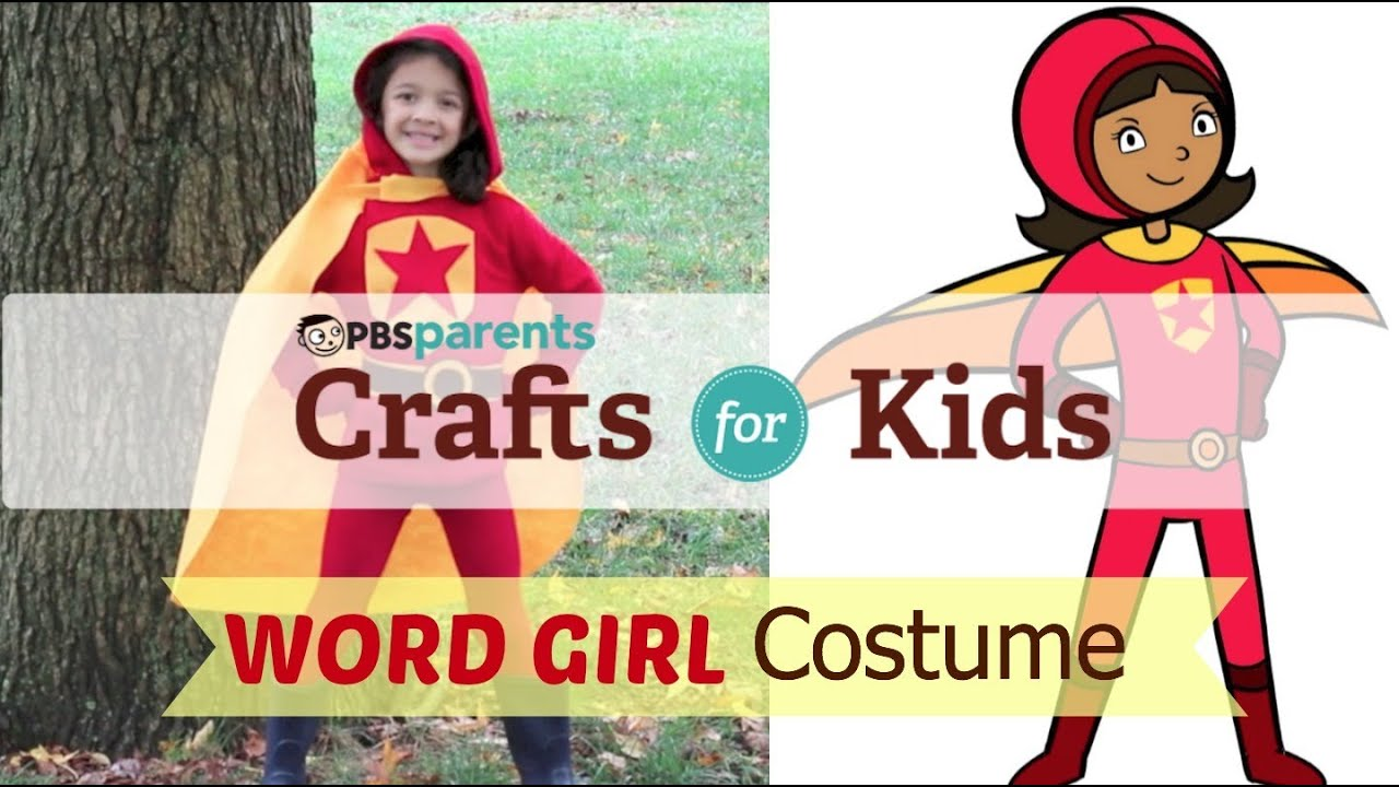 no-sew wordgirl costume | crafts for kids | pbs parents - youtube