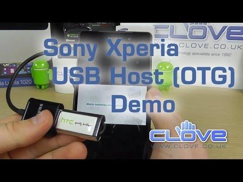 Sony Xperia Z2 USB Host (OTG) Demo