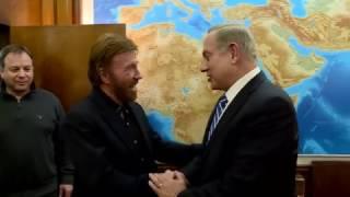 Chuck Norris Meets Israeli PM Netanyahu. Netanyahu Makes 'Chuck Norris Jokes'