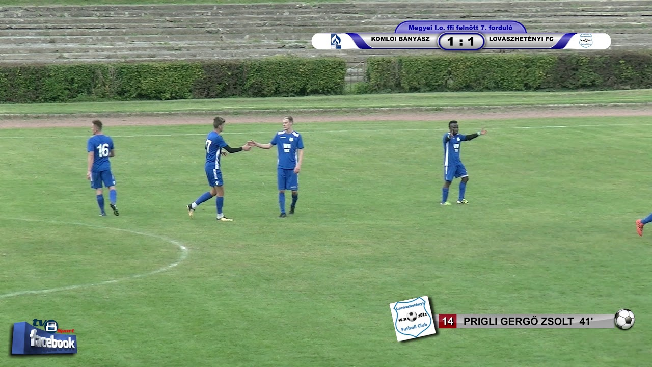 Sport36 KOMLÓI BÁNYÁSZ - LOVÁSZHETÉNYI FC     3 - 3 (1 - 1)