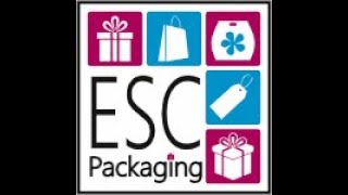 ESC Packaging Hot Foiling our Stock Luxury Paper Carriers