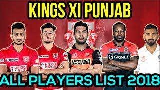 KXIP Players List 2018.Ipl Auction 2018.Kings XI Punjab IPL Squad 2018.IPL XI
