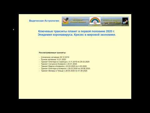 Ведическая Астрология - Коронавирус, Экономический Кризис в 2020 г.