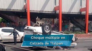 La volcadura en Calzada de Tlalpan dejó como saldo una persona muerta y varias lesionadas