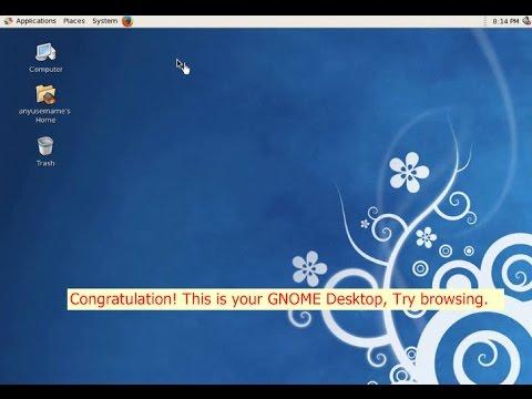 centos how to install gnome desktop environment