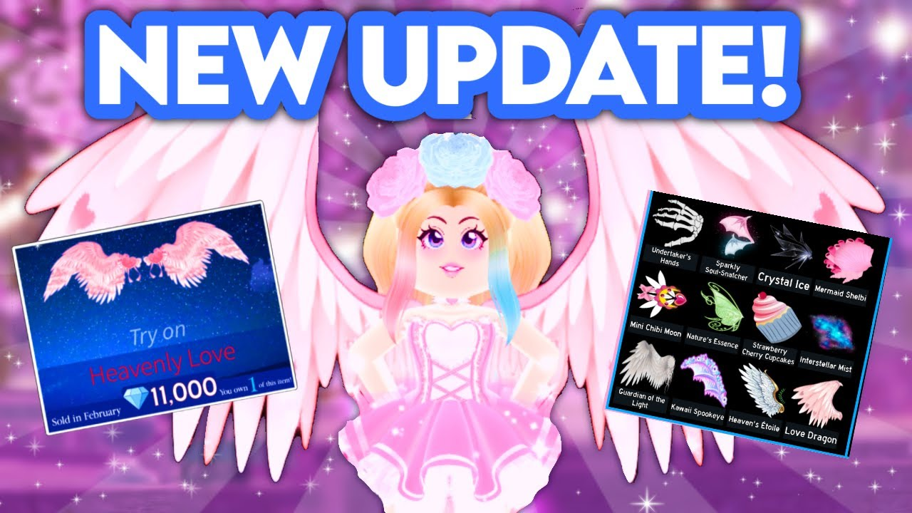 *NEW* ROYALE HIGH UPDATE 2021! Royale High Roblox Wing Update Tea! New Animations, Particles & MORE