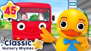 5 Little Ducks On A Bus! | +More Vehicle Songs | Classic Nursery Rhymes | Little Baby Bum