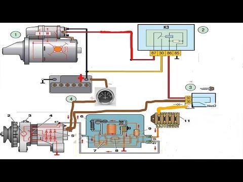 Схема Подключения Генератора и Стартера для Трактора и Автомобиля ! Электро Проводка с Нуля !