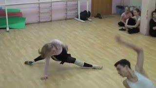 18.13.2014. Tver Youth Ballet Академия СК Балета. Урок джаз модерна. Фрагмент.