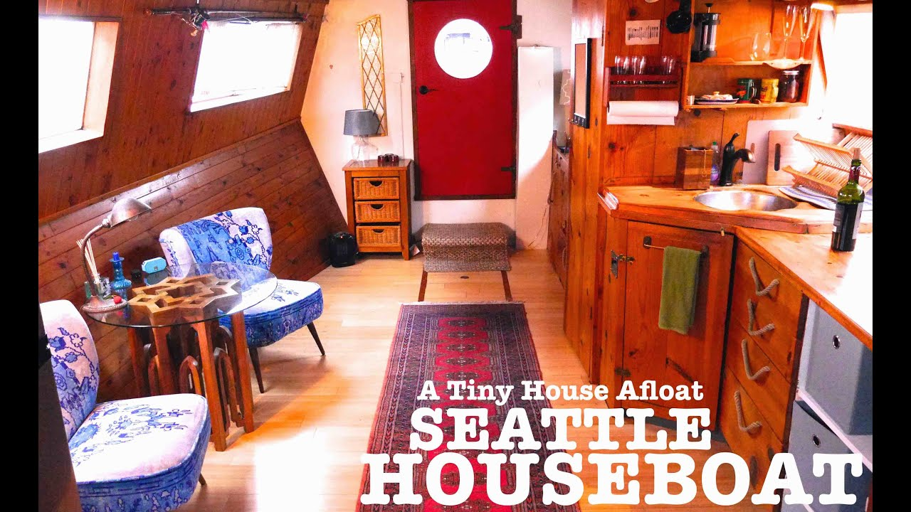 tiny house seattle. Tiny House Afloat! Check Out This Seattle Houseboat You Can Rent! - YouTube