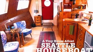 Tiny House Afloat! Check Out This Seattle Houseboat You Can Rent!
