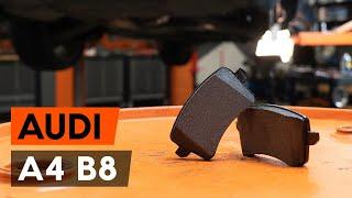 Hvordan og hvornår skifte Bremseklods foran og bag AUDI A4 (8K2, B8): videovejledning