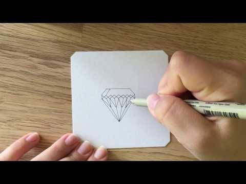 Diamant Zeichnen