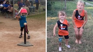 3 Year Old Amputee Defies Odds Whilst Playing Sports thumbnail