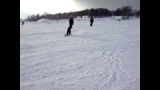 отдых в уральских горах , на сноуборде
