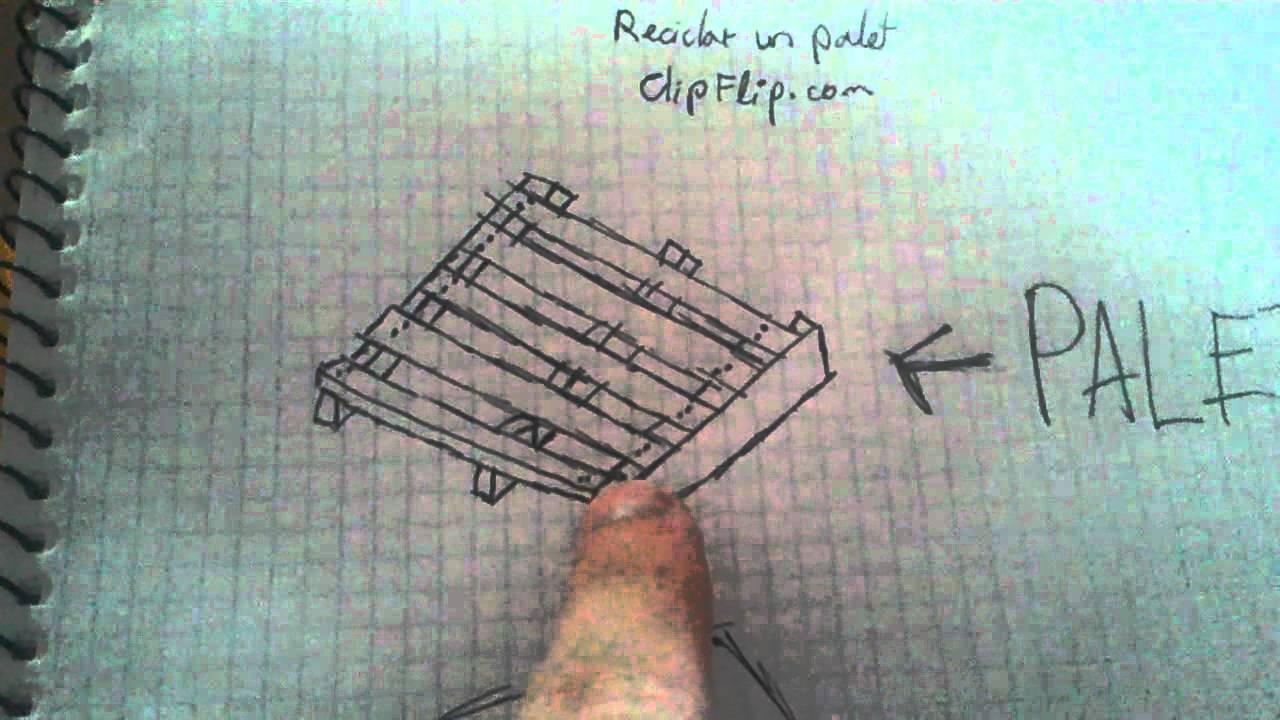 Reciclar un palet - restaurar muebles - YouTube