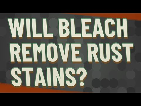 Will bleach remove rust stains?