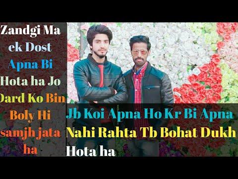 Dil ki bat lafzo ma || Dosti shayari || Two Line Sad Poetry in hindi and urdu || shayari sad urdu