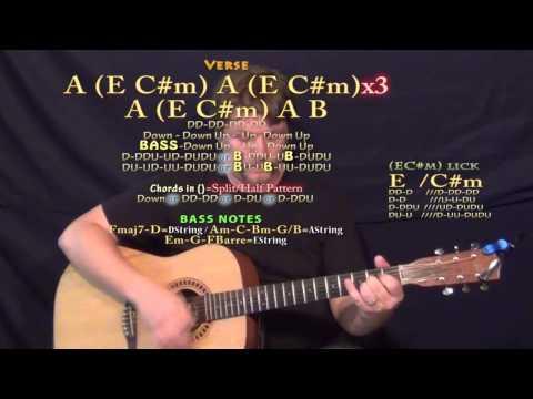 Dark Side (R5) Guitar Lesson Chord Chart in E Major