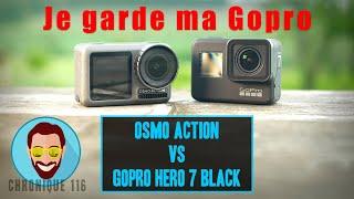 OSMO ACTION REVUE détaillée vs Gopro Hero 7 Black