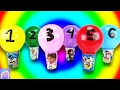 Learn Numbers And Colors With SURPRISE Balloons And Cartoon Characters
