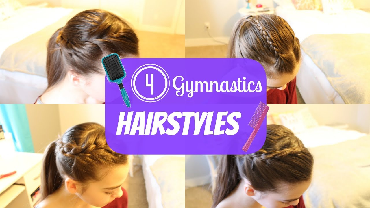 Cute Gym Hairstyles For Long Hair : Gymnastics hairstyles