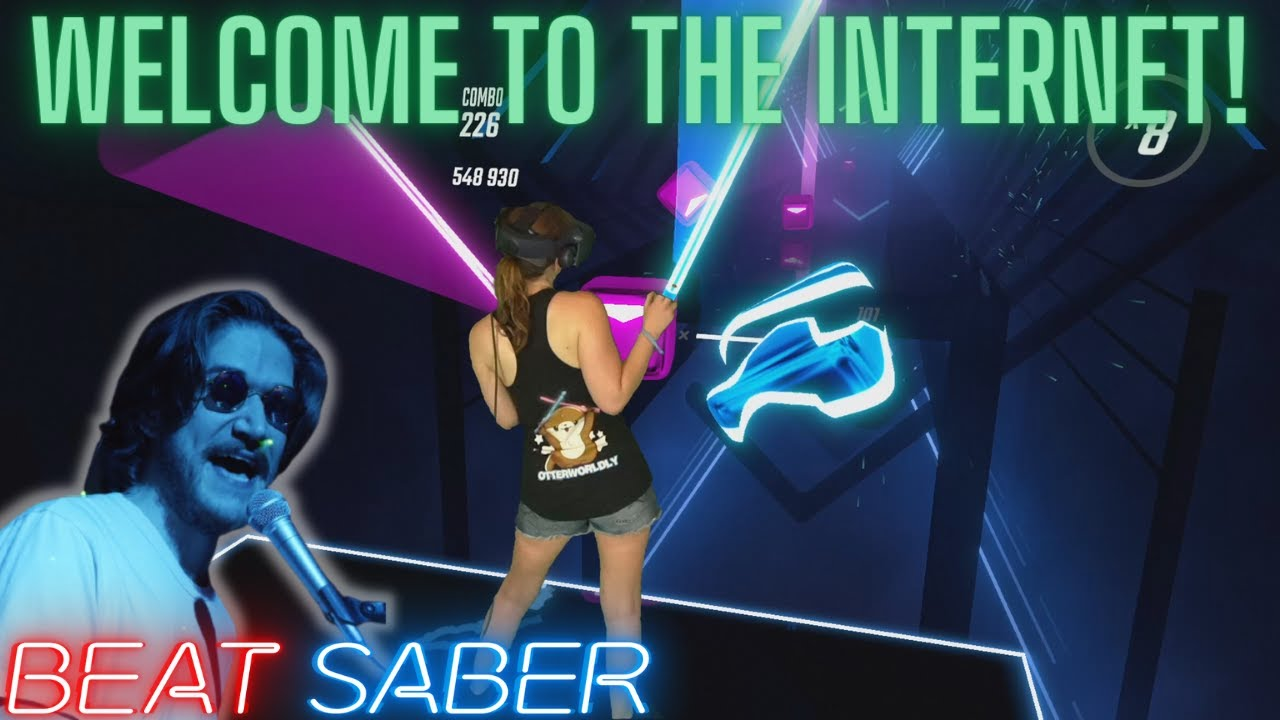 Bo Burnham - Welcome to the Internet in Beat Saber! (Expert+) First Attempt | Mixed Reality