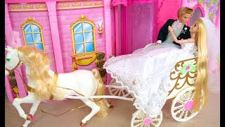 Cinderella Princess Wedding Carriage Prinzessin Hochzeitskutsche Voiture de mariage Boneka Putri
