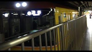 地下の浅草駅に2つ並んだ銀座線1000系と下り列車の出発です。 日本で初...