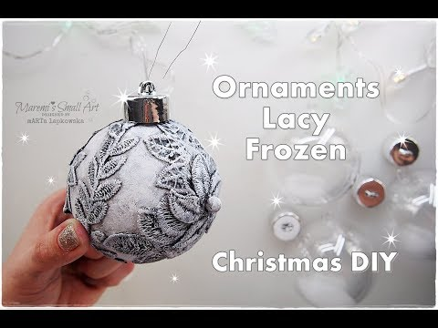 DIY Frozen Lacy Ornaments for Christmas ♡ Maremi's Small Art ♡