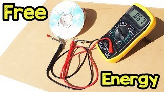 Fiz um painel Solar com um CD-FUNCIONOU? Free energy generator