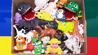 Learn Wild Animal Names and Animal Toys! Learn Colors For Children