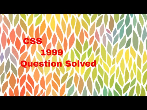 CSS 1999 Solved Question   Words and Meaning, Use in Sentence, Short Questions for PMS CSS FPSC PPSC