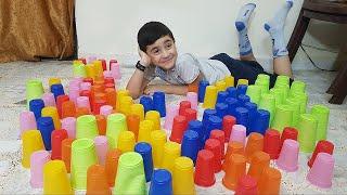 Hasouna Play With Color cups for kids - سوبر سيلينا وحسونة  الاكواب الملونة للاطفال