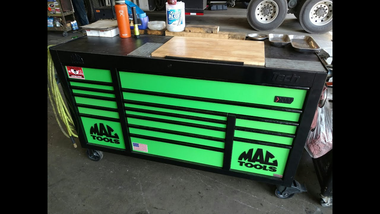 New Mac 1084 toolbox with power drawer - YouTube