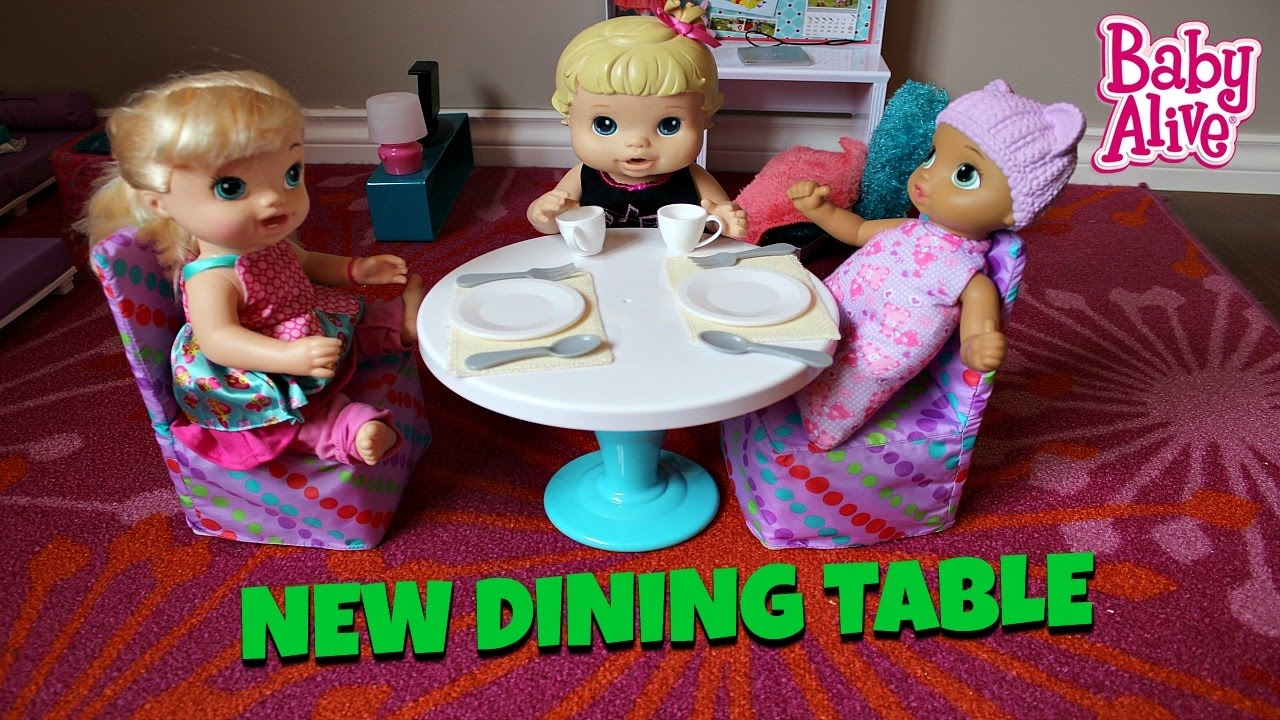 Baby Alive Furniture Getting Dining Table Set Bailey and Brianna moving My life doll Furniture & Baby Alive Furniture Getting Dining Table Set Bailey and Brianna ...