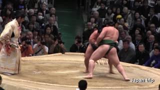 2017大相撲春場所での石浦 vs 佐田の海 の取組。