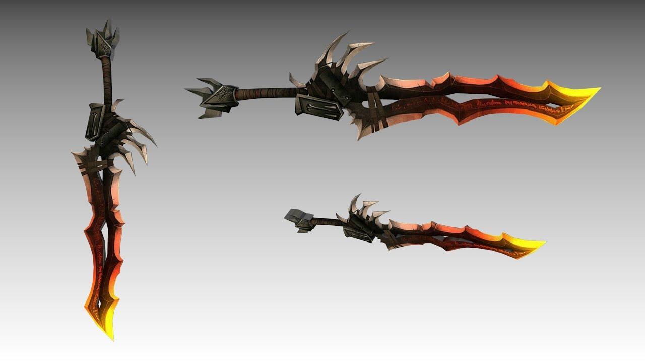 Blender Character Modeling Timelapse : Blender sword modeling timelapse kılıç model