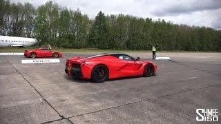 Ferrari LaFerrari vs 458 Speciale - Drag Races at Vmax Hypermax
