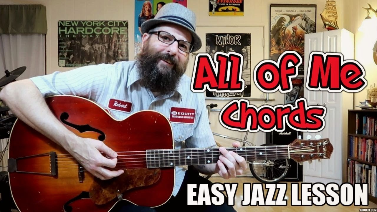 All Of Me Easy Jazz Chord Lesson Western Swinggypsy Jazz Youtube