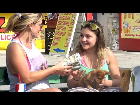 Buying Strangers DOG Prank Social Experiment