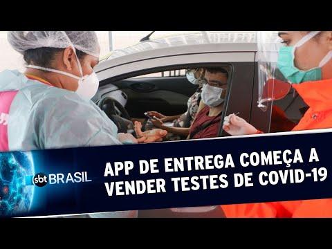 Testes Para Covid-19 São Vendidos Por R$251 Em Aplicativo De Entrega | SBT Brasil (25/05/20)